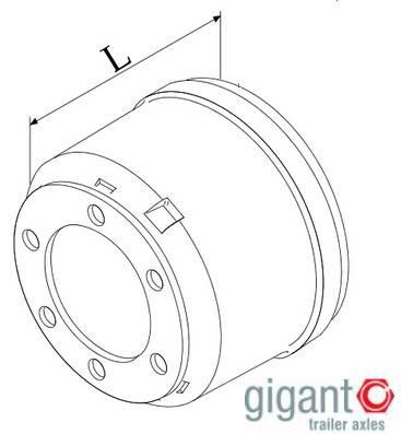 Тормозной барабан SAE 305x125 L=180