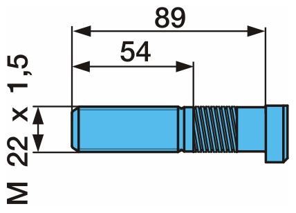 Шпилька колеса M22x1,5 L=89mm