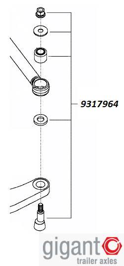 Ремкомплект подруливающей тяги (нов)  9317964